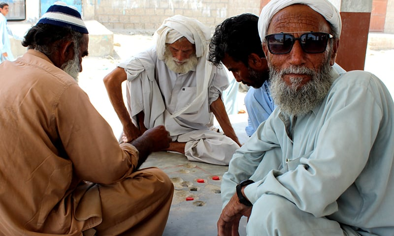 CPEC remains an unfamiliar name to these men in Sur Bandar. — Zofeen T Ebrahim