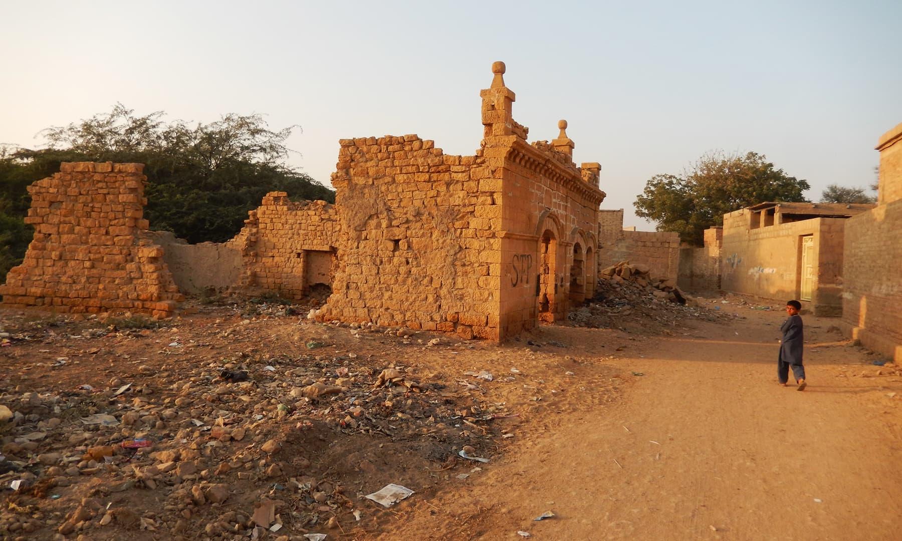 شہر جھرک کی ایک تصویر — تصویر ابوبکر شیخ