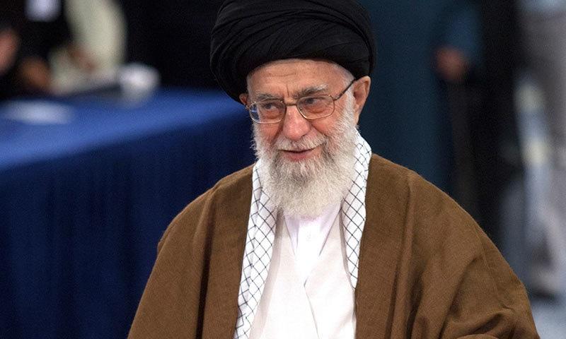 سپریم لیڈر نے انتخابات کو ایران کے مستقبل کے لیے اہم قرار دیا—فوٹو: اے پی