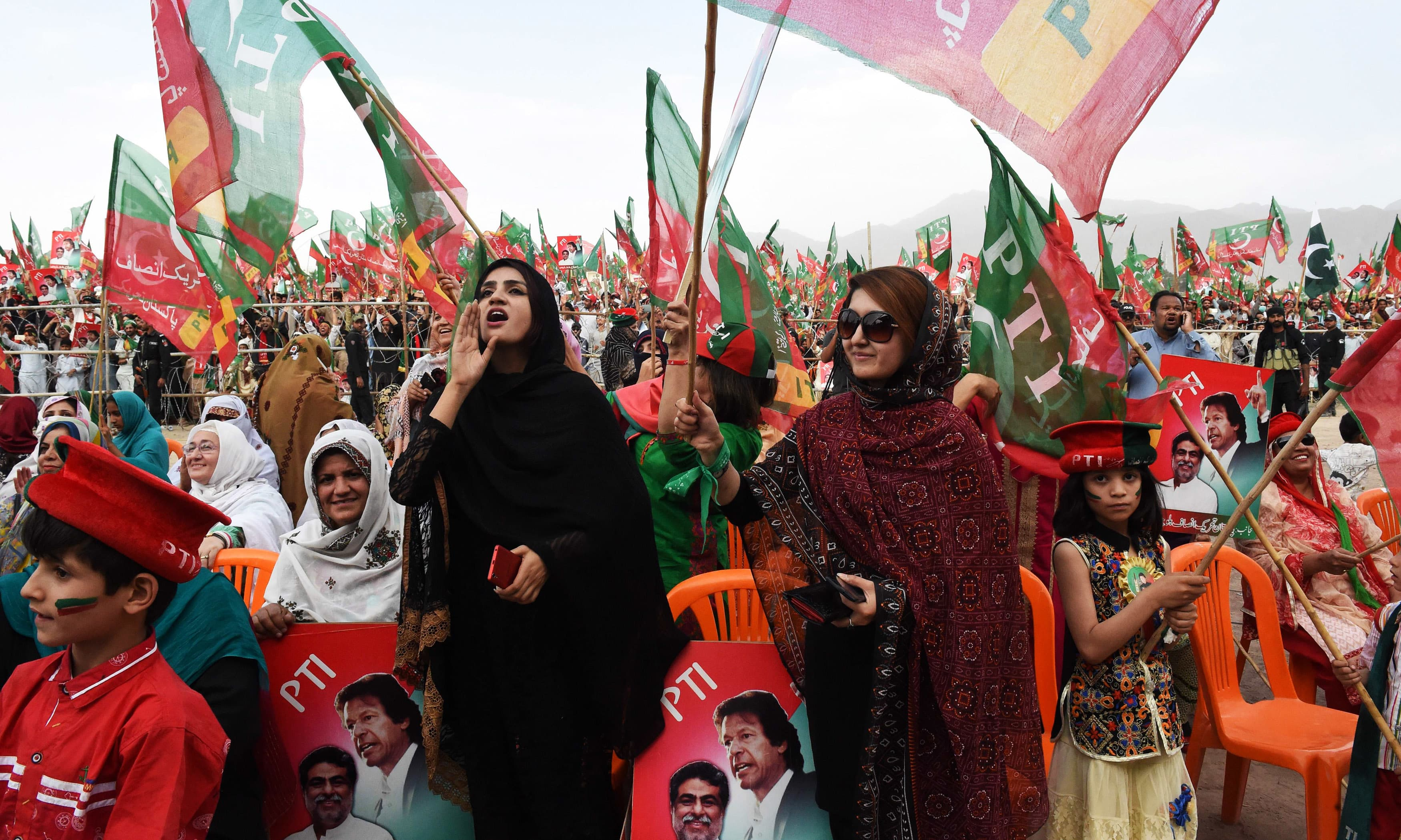 PTI supporters attend an anti-government rally in Quetta. —AFP
