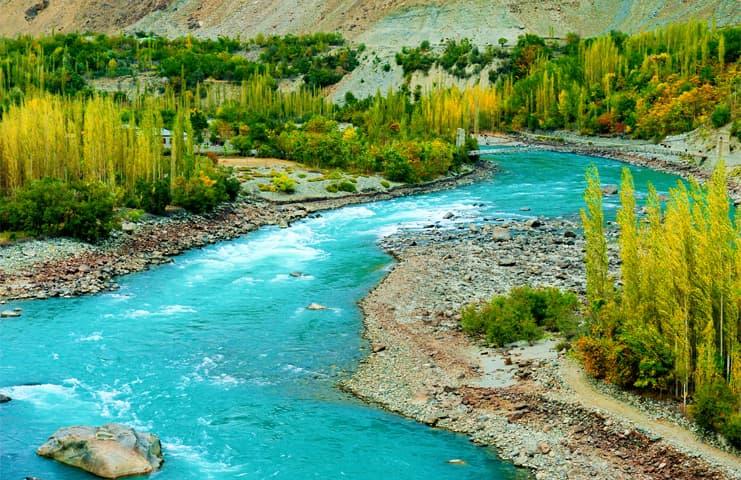 The River Indus at the Karakoram Highway