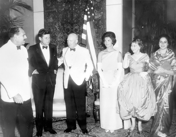 July 1961 - Dinner in honor of the Kennedys, given by Mohammad Ayub Khan, President of Pakistan, at the Mayflower Hotel.