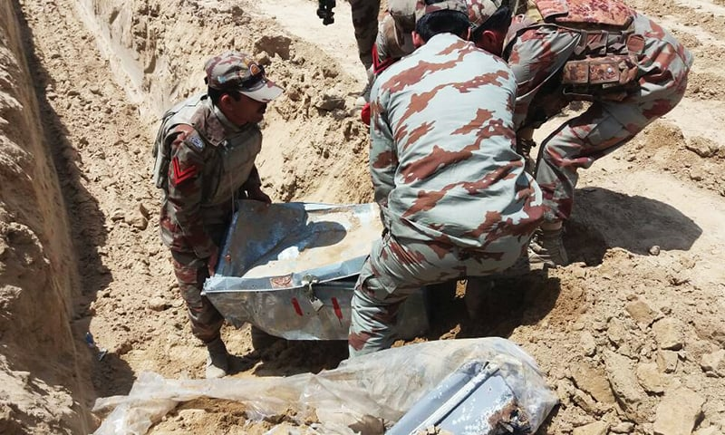 Security forces recover weapons. -ISPR