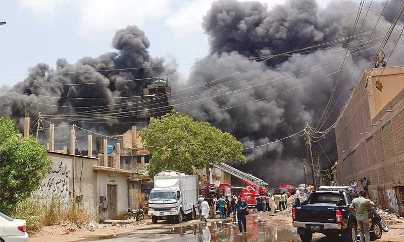 Plastic factory fire put out after six hours of efforts