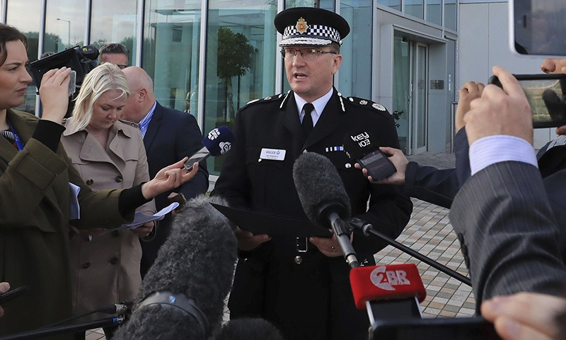 Greater Manchester Police Chief Constable Ian Hopkins speaks to the media, May 23.─AP.