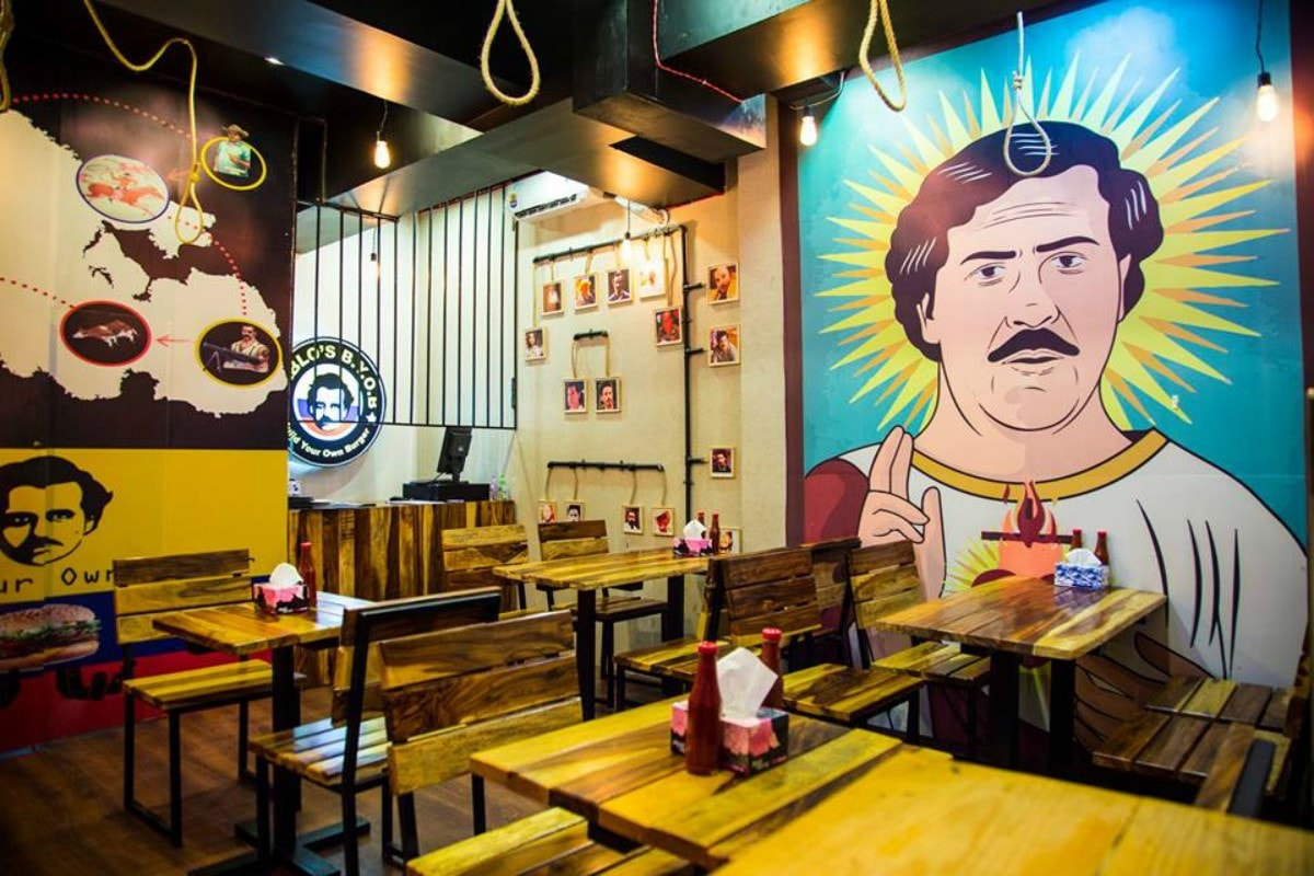 True to its theme, Pablo's BYOB boasts prison bars and hangman's noose as part of the eatery decor