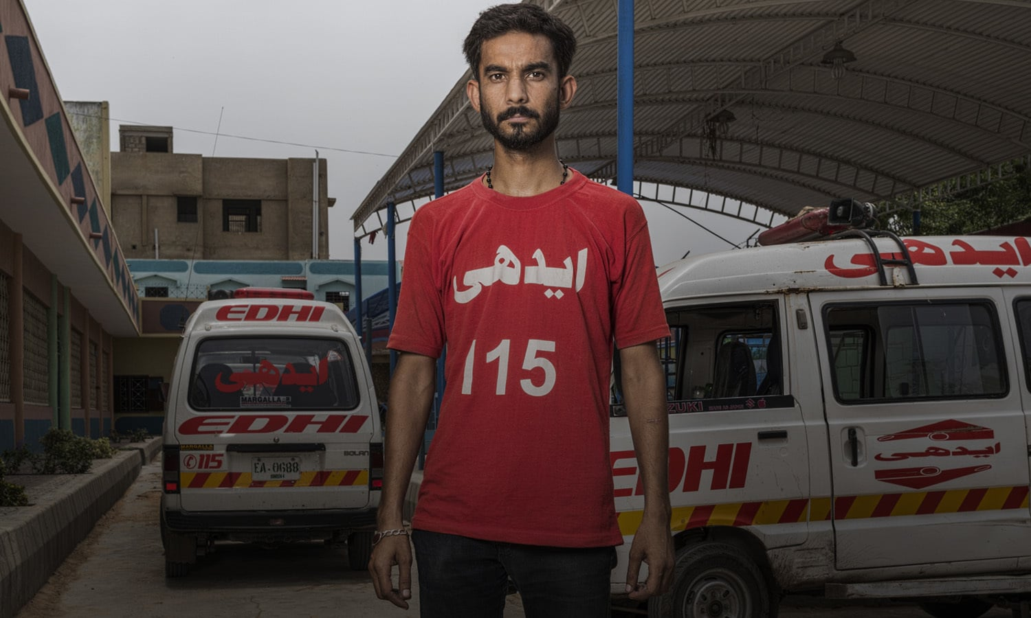 "<p>It was a routine day for Mujahid Rehman, an Edhi Emergency Services ambulance operator. He got to the scene of a shoot-out to help patients. Instead, he ended up becoming one of them. <p>Rehman was walking towards the injured lying on the street when he, ""felt something like a stone"" hit him in the back. He would later learn that it was a bullet."