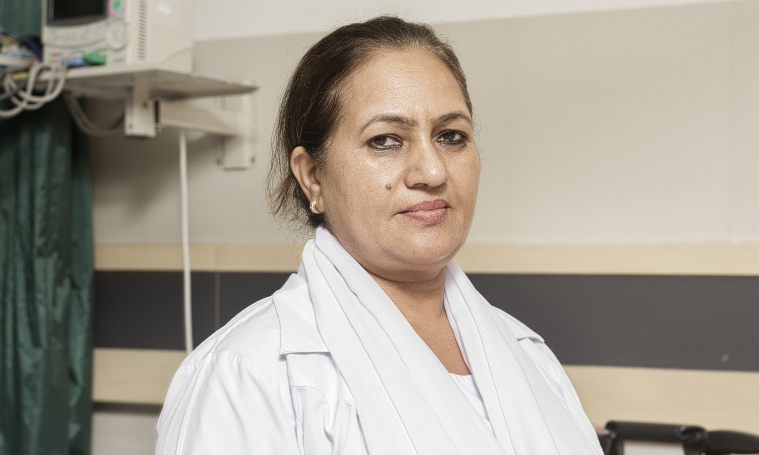 <h2>Daisy Nasreen</h2> <ul> <li>Head Nurse, JPMC Hospital Emergency Ward</li> </ul>