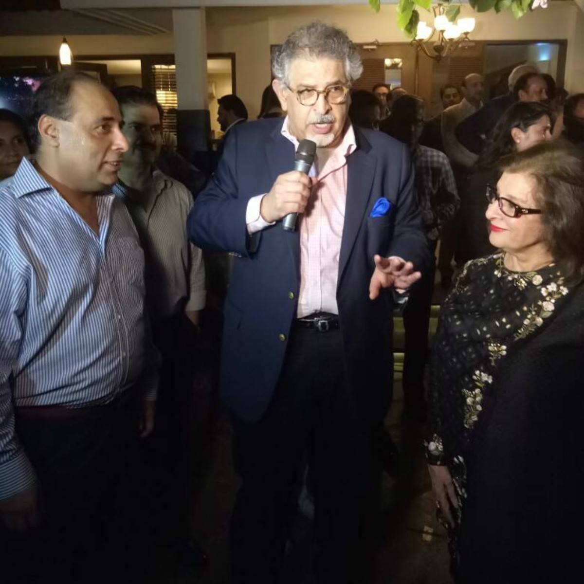Dr Jawad with Hum Network President Sultana Siddiqui at the launch of R5 Foundation