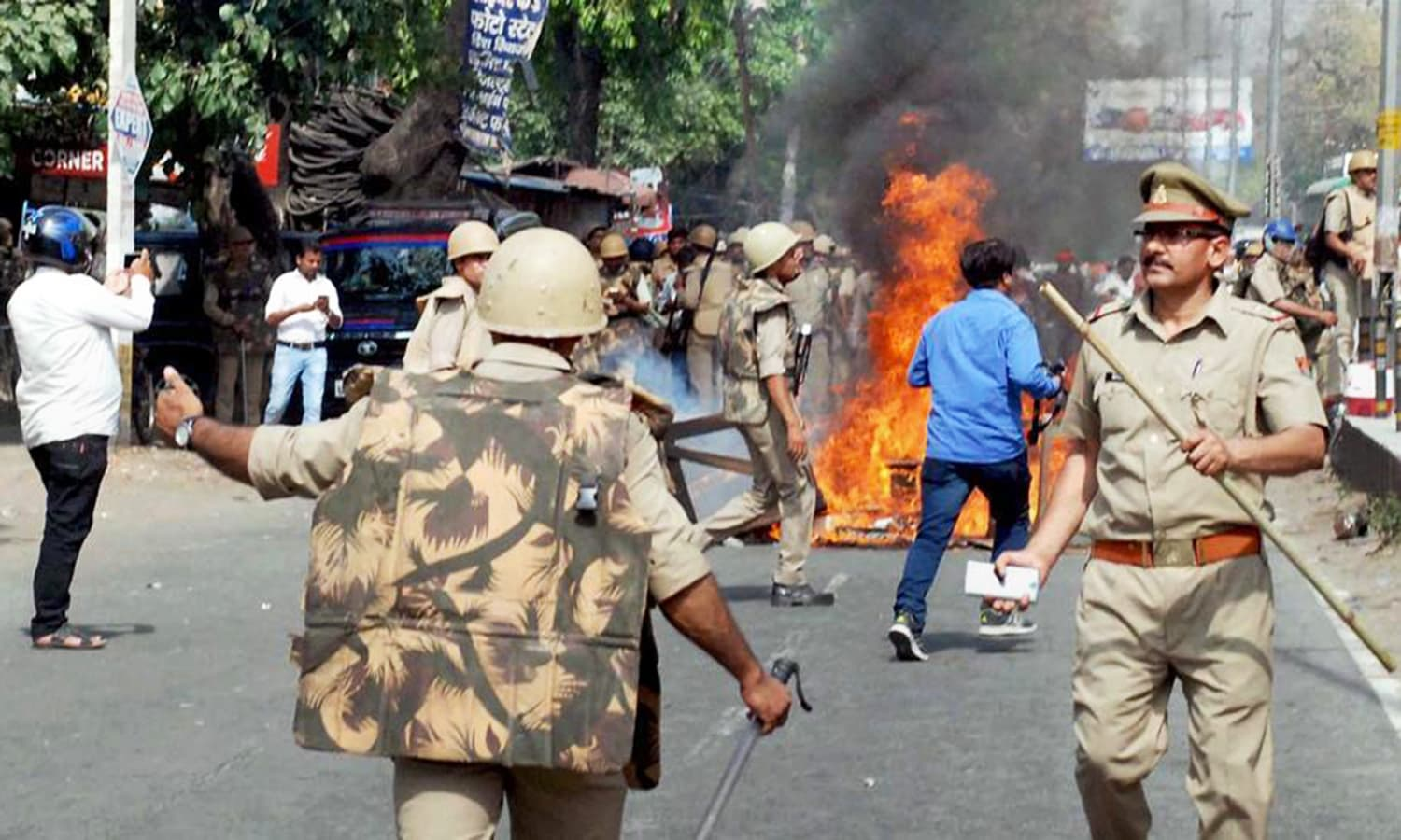 Earlier this week, clashes erupted between Dalits and Thakurs in Saharanpur, UP. — Photo credit: PTI.