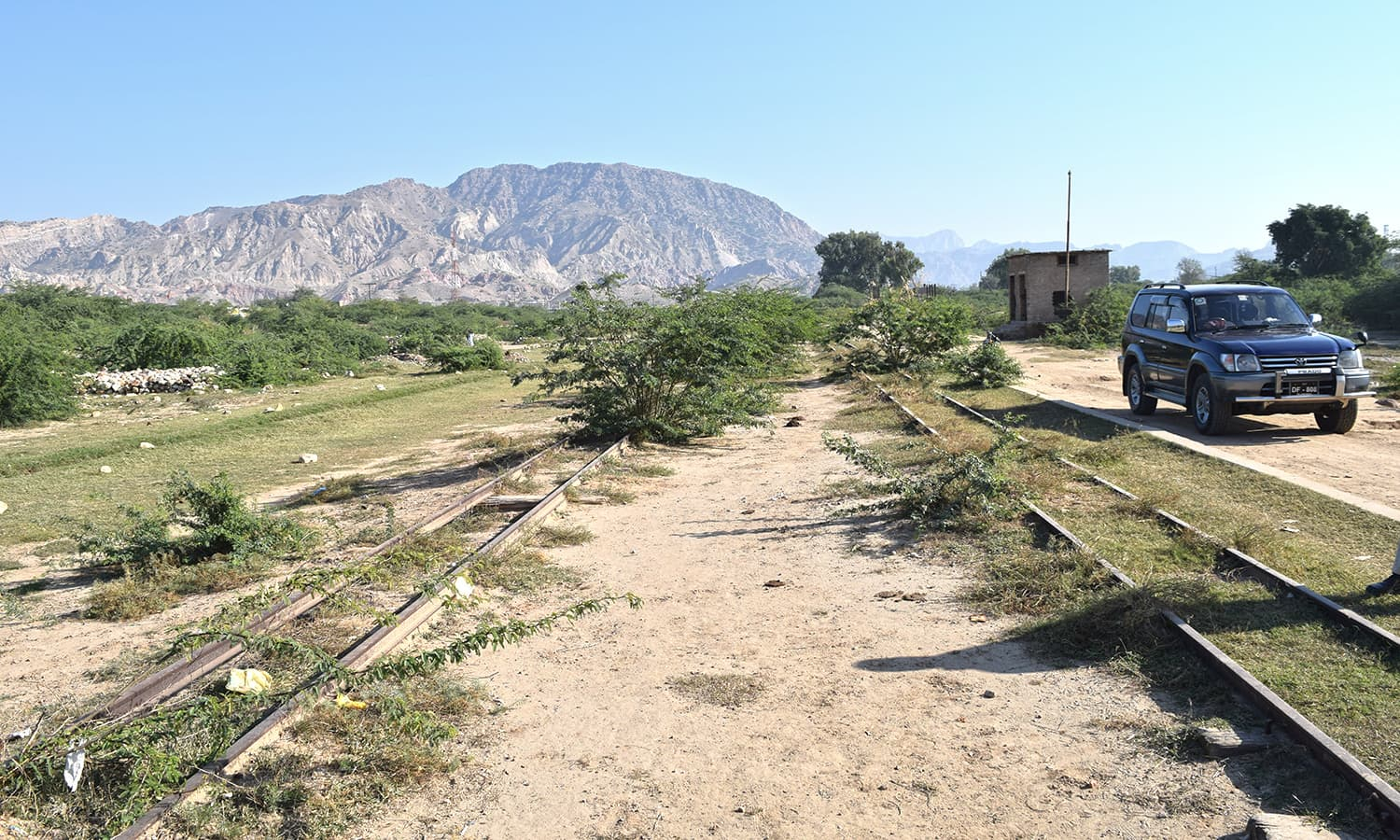The narrow gauge lines at Kalabagh.