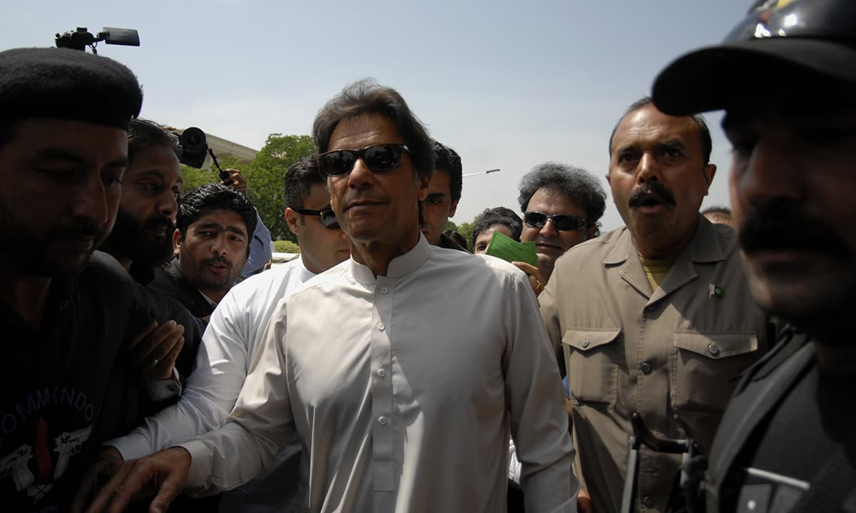 PTI Chairman Imran Khan arrives outside the Supreme Court | Mohammad Asim, White Star
