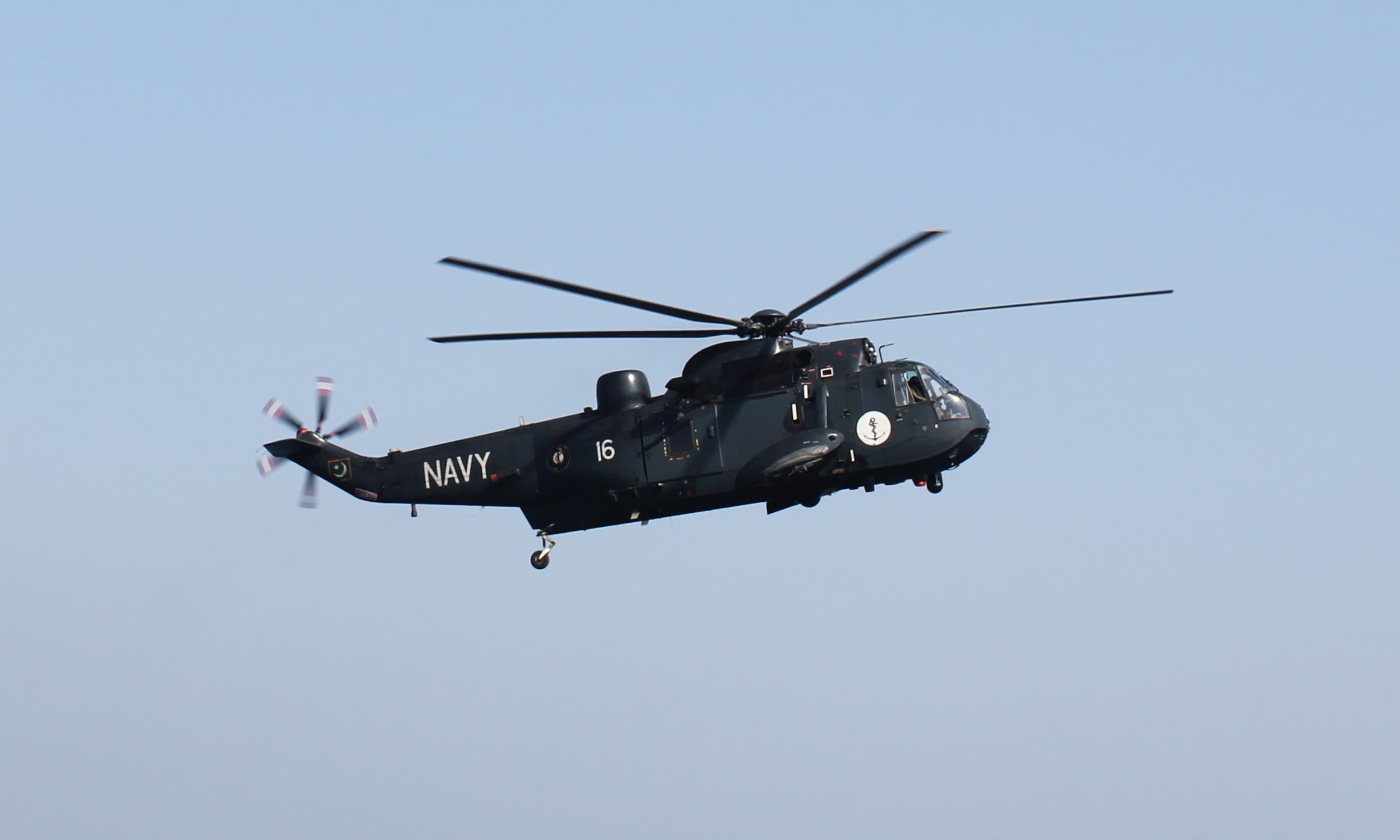 The Sea King helicopter is primarily a search and rescue chopper. — Tauseef Mallick/File
