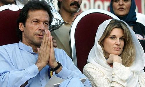 Imran Khan and Jemima Goldsmith were married from 1995 to 2004. — File