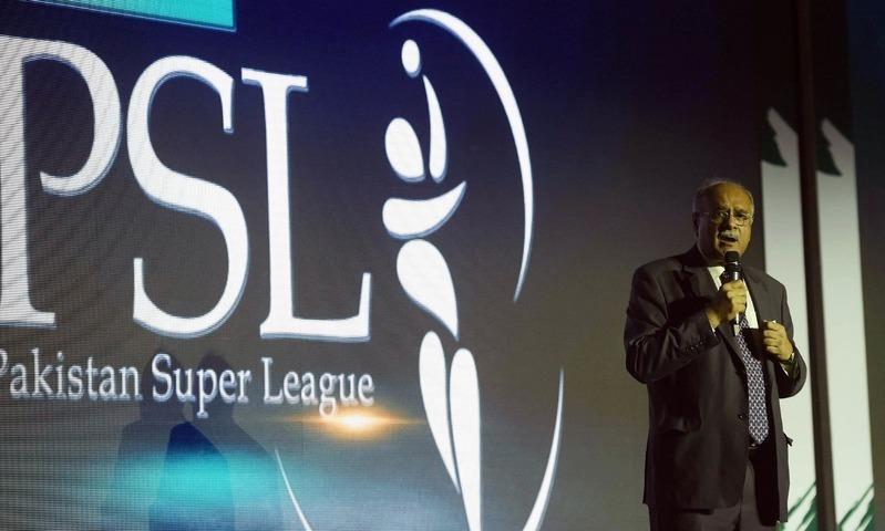 Nawam Sethi at a Pakistan Super League ceremony. — PSL Media