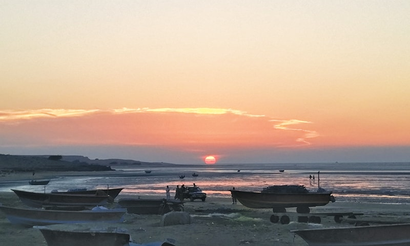 Sunset at Jiwani