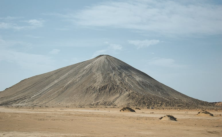 The Changragupt mud volcano put can be accessed via a five-mile long metalled road from the highway