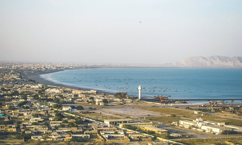 A view of the city from Pearl Continental Gwadar atop Koh-e-Batil