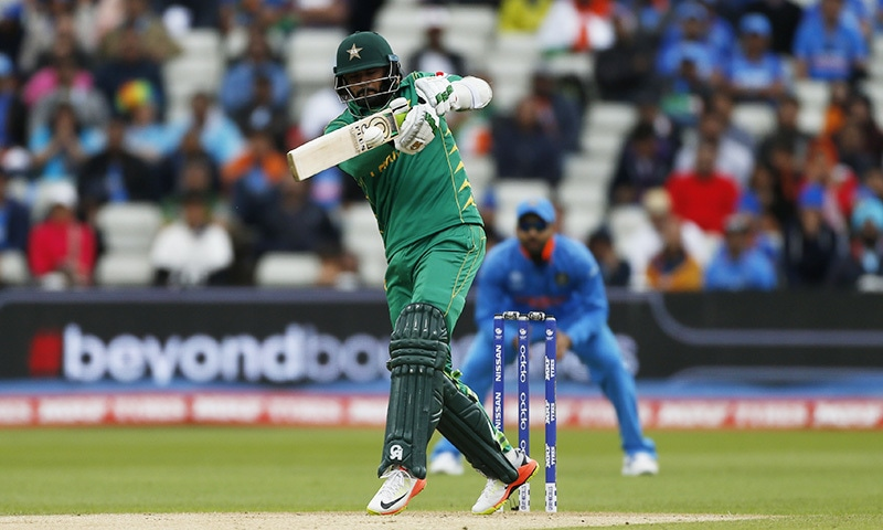 Azhar Ali in action during Pakistan and India's clash in the ICC Champions Trophy.─Reuters