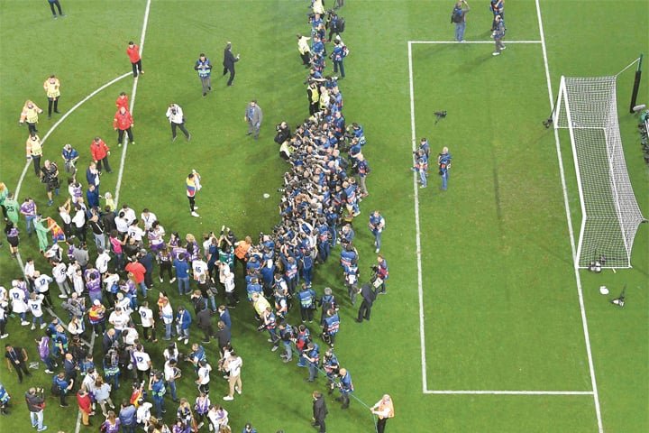 A PITCH view of the Real Madrid celebrations.—AFP