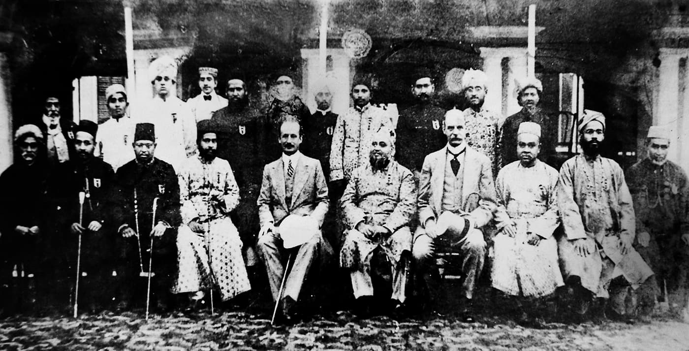 Founding members of the All India Muslim League. —​ Dawn/White Star Archives