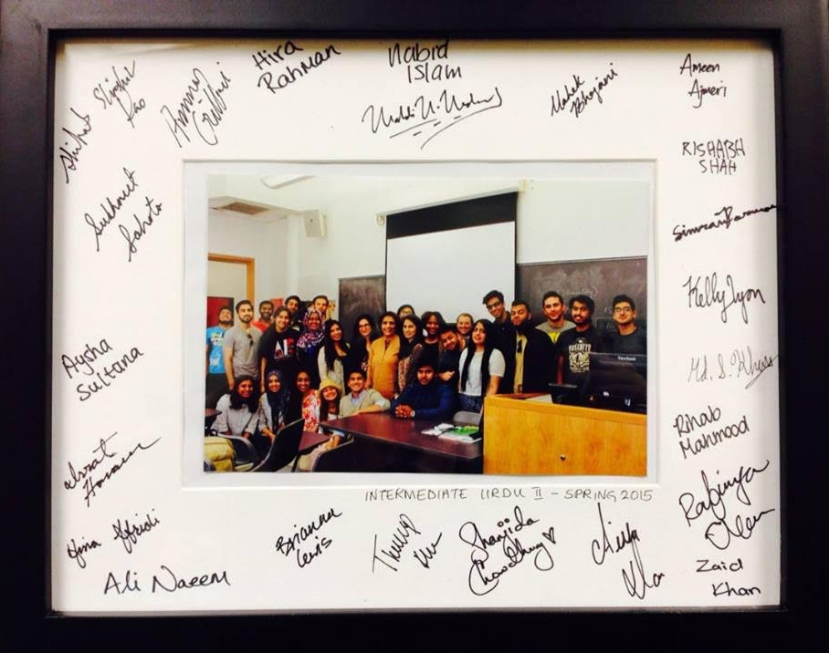 A group photo of one of Tahira Naqvi's classes.—Photo courtesy Tahira Naqvi