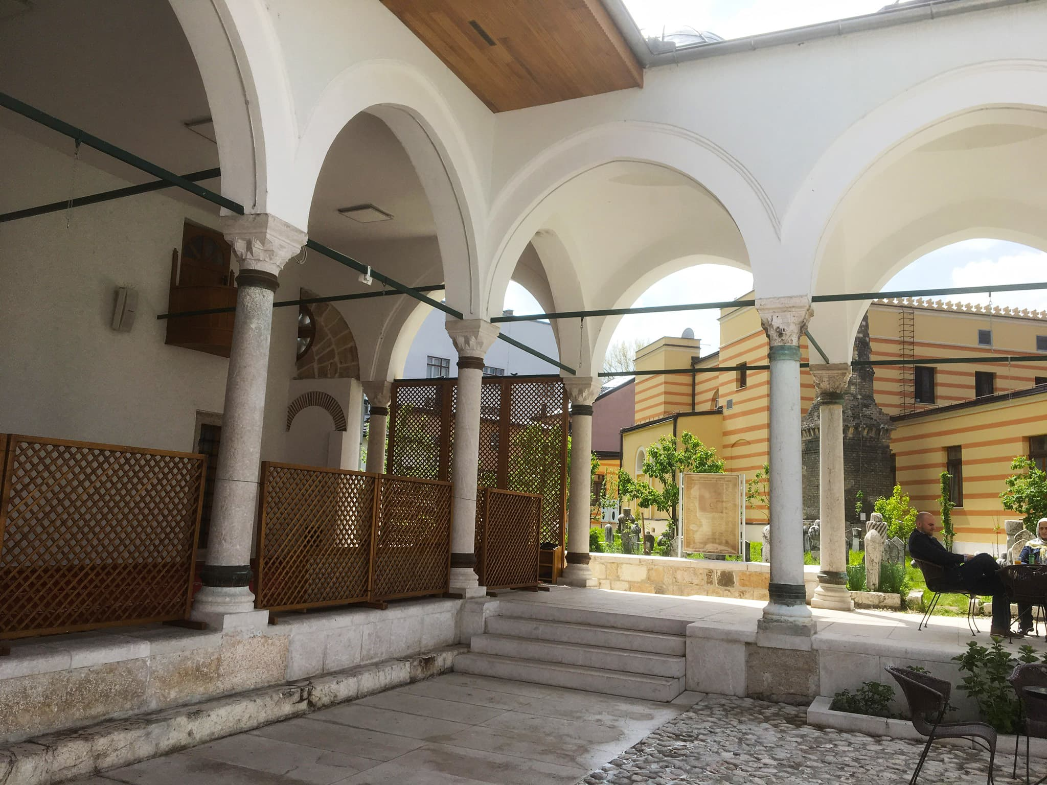 The courtyard of Sarajevo's oldest Ottoman mosque.