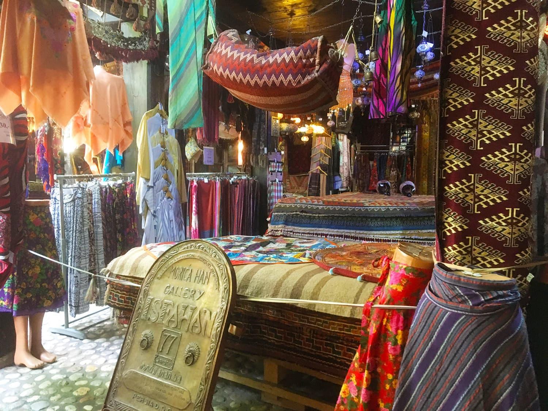 A view of Sarajevo's old market.