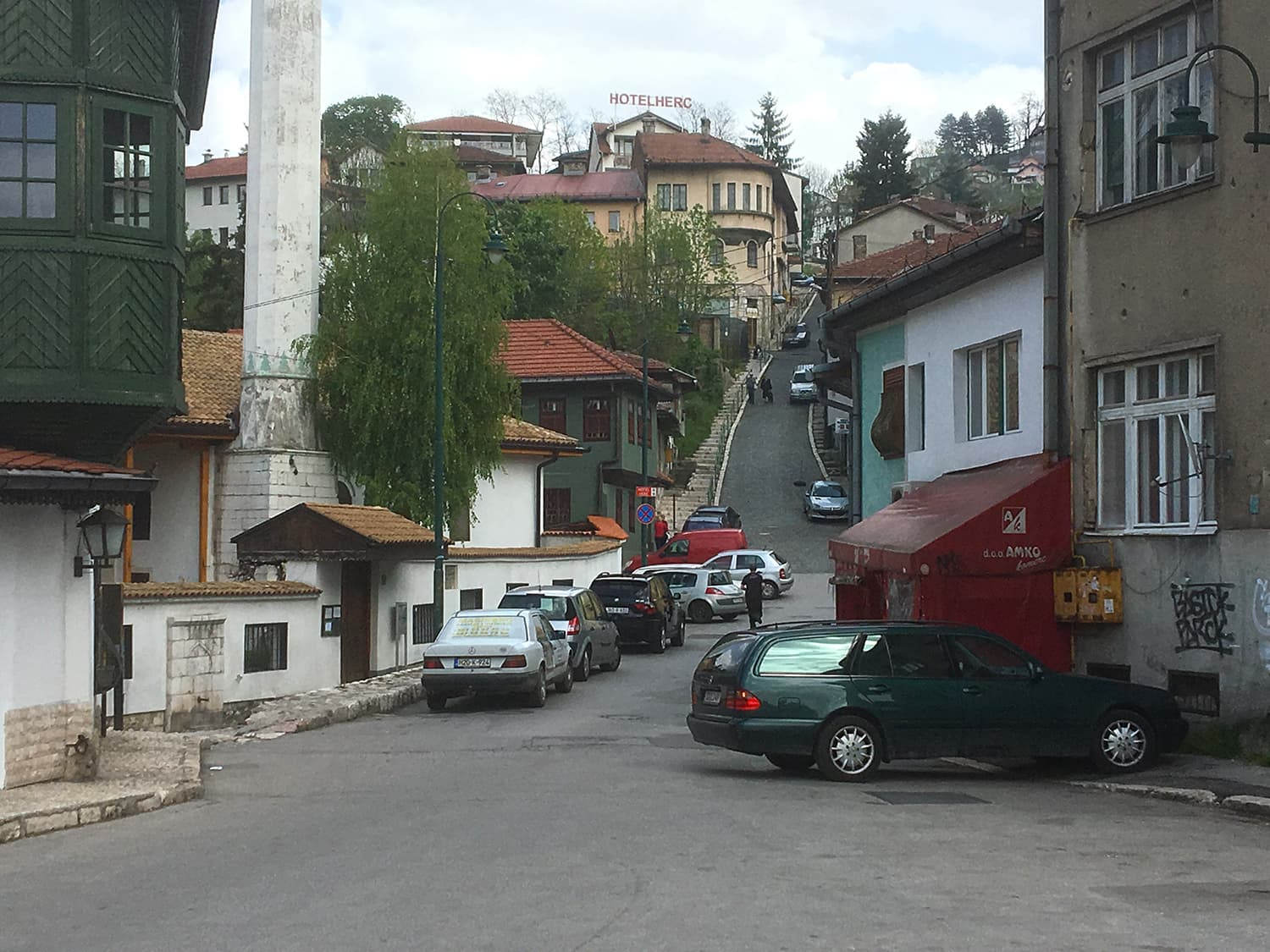 The Road to Istanbul, an old Ottoman-era road, in Sarajevo.