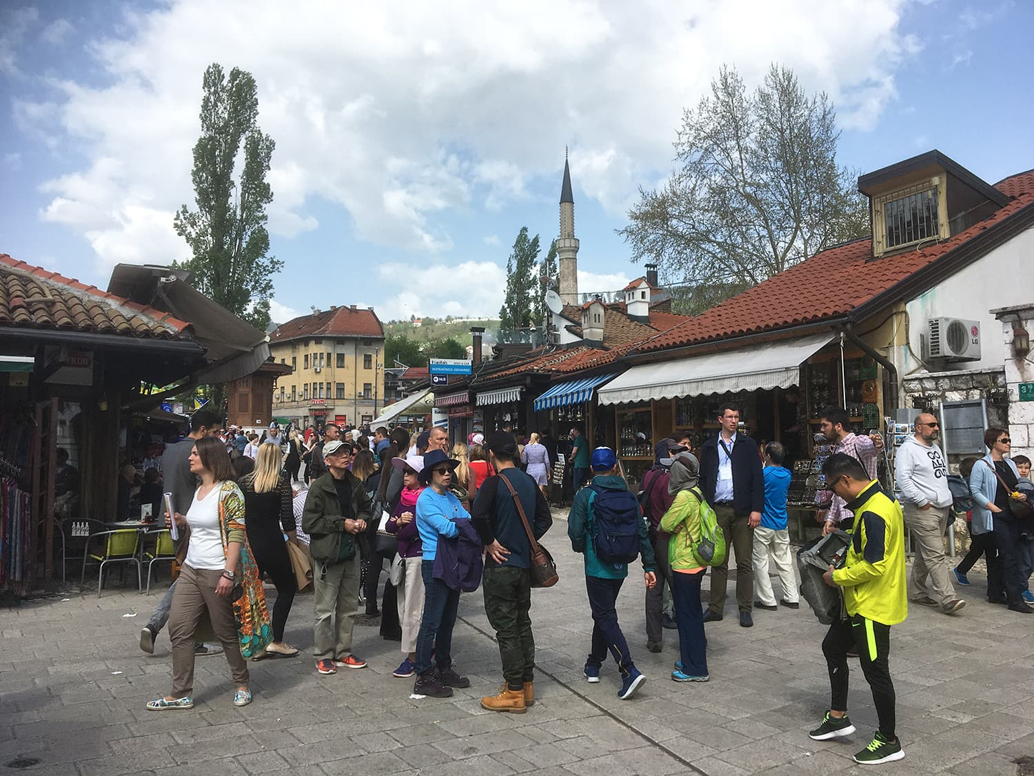 The market is usually bustling with activity and is also a popular tourist attraction.