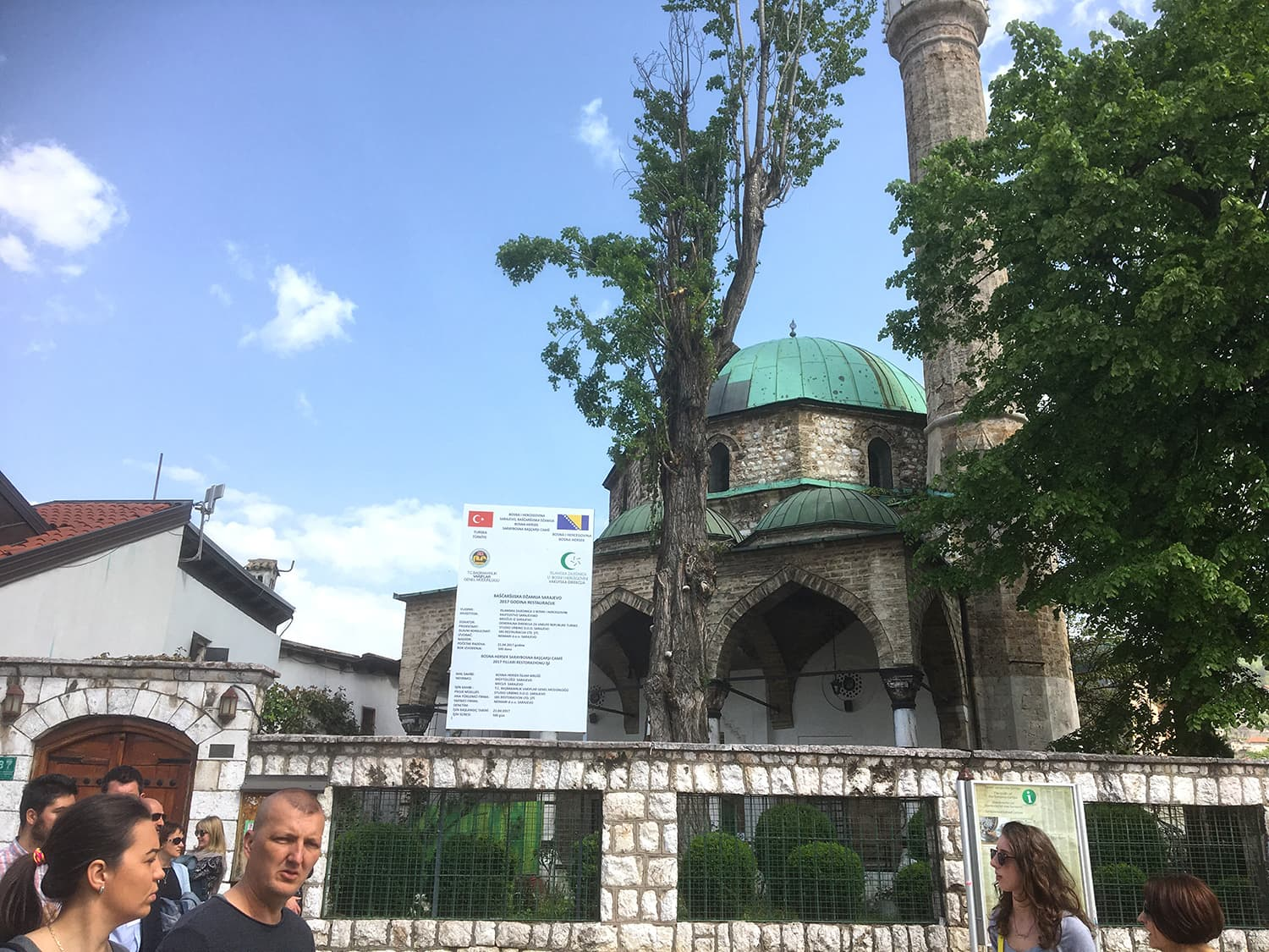 There are many beautiful Ottoman mosques around Sarajevo's old city.