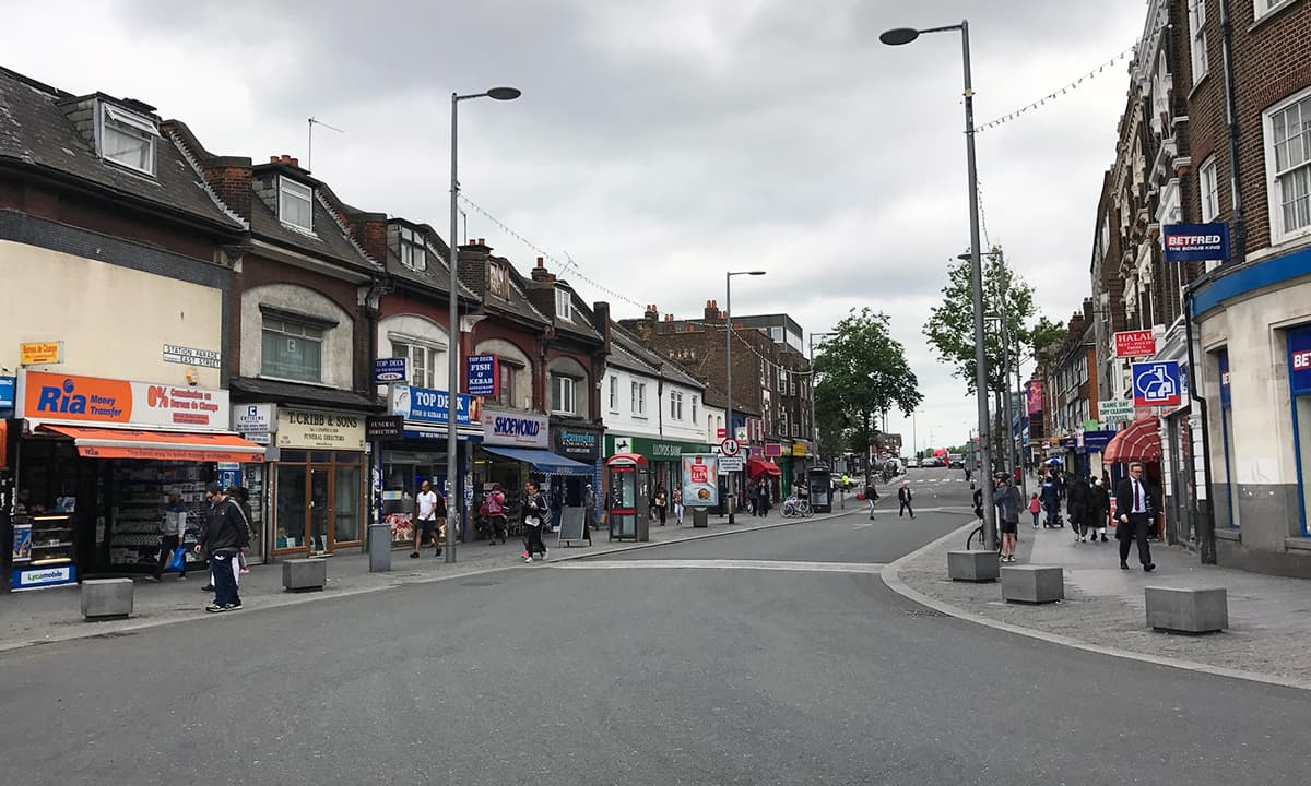 The main road in Barking, leading to the market | Ritu Prasad