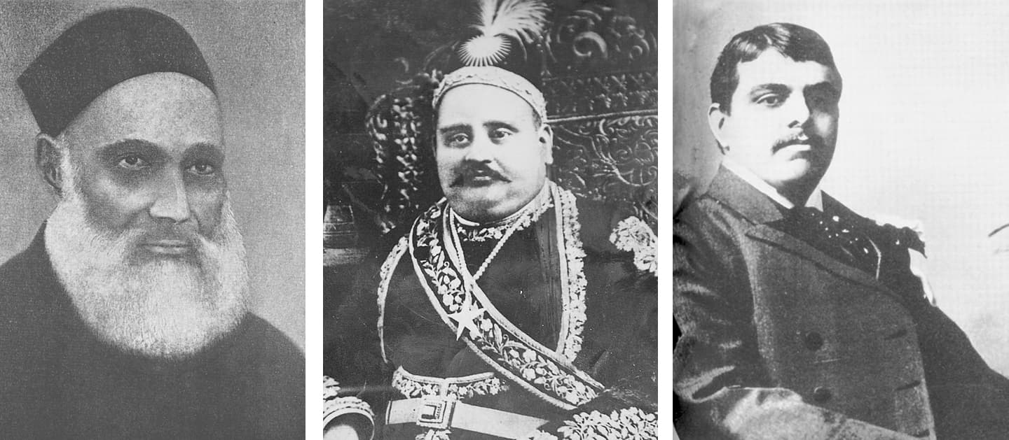 Nawab Viqar-ul-Mulk, Nawab Salimullah and Sir Sultan Mohammed Shah Aga Khan III. — Dawn/White Star Archives