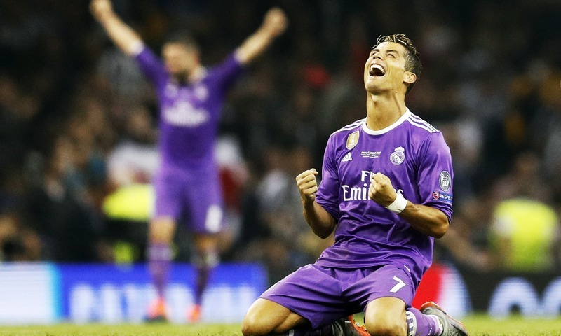 Cristiano Ronaldo celebrates after winning the UEFA Champions League Final. — Reuters