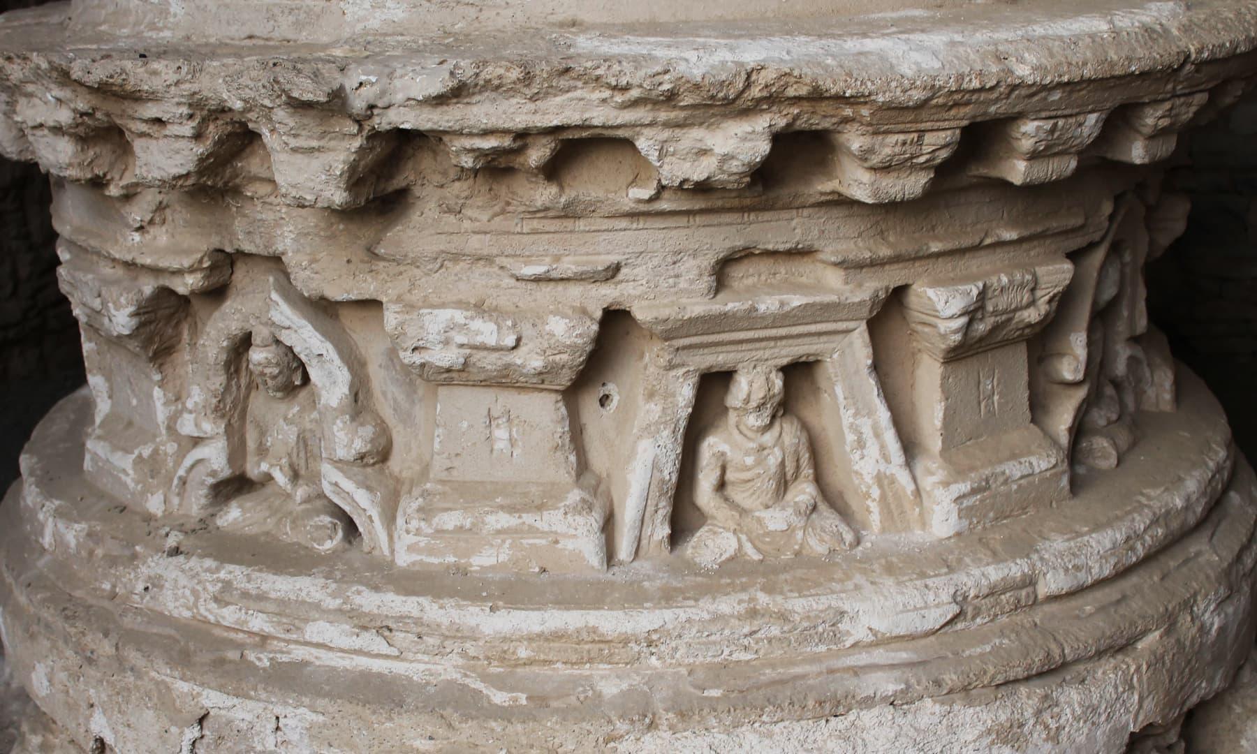 گندھارا آرٹ کا ایک نمونہ — تصویر ابوبکر شیخ