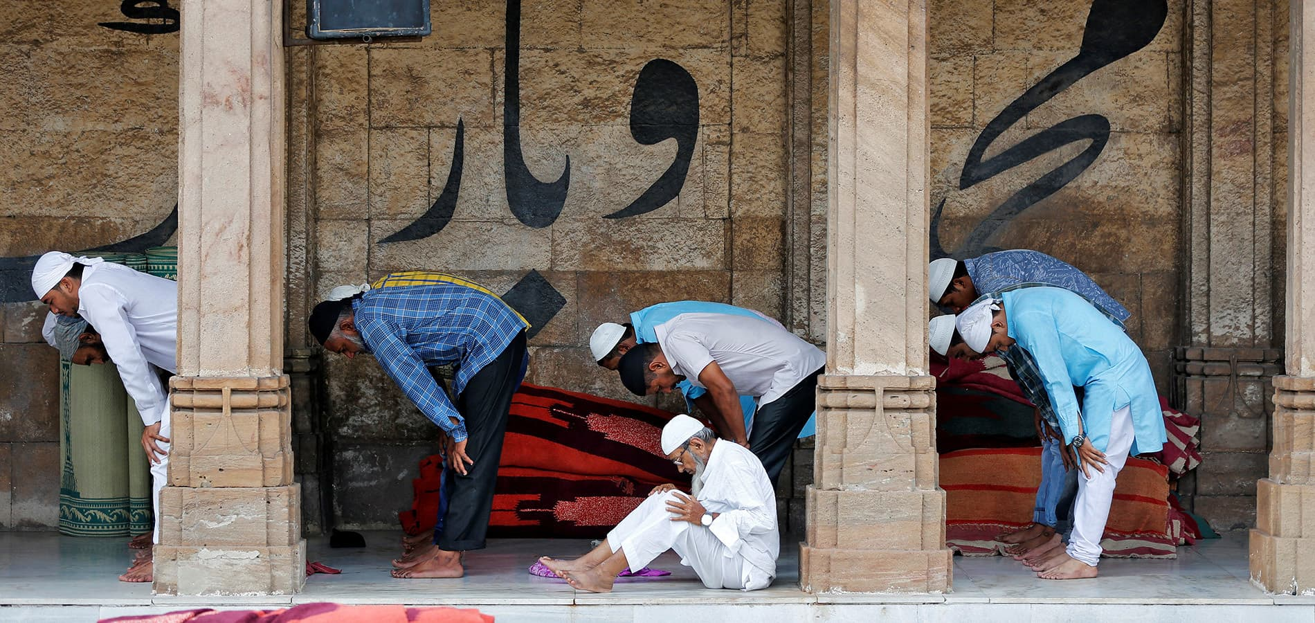 Muslims offer the second Friday prayers of the holy fasting month of Ramadan inside Jama Masjid mosque in Ahmedabad, India, June 9, 2017. REUTERS/Amit Dave