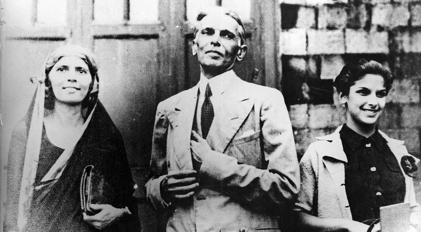 Mr Jinnah with his sister Fatima and his remarkable daughter Dina. —​ Courtesy National Archives Islamabad