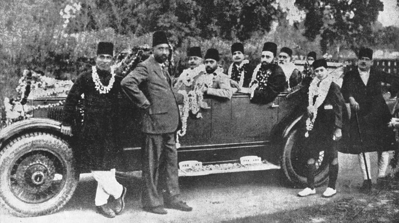 Sir Muhammad Iqbal arriving at the 25th Session of the All India Muslim League in Allahabad. —​ Dawn/White Star Archives