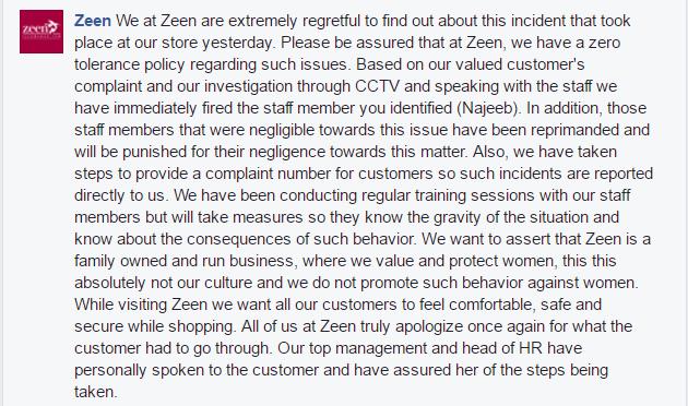 Zeen's response — Screengrab: Girls At Dhabas