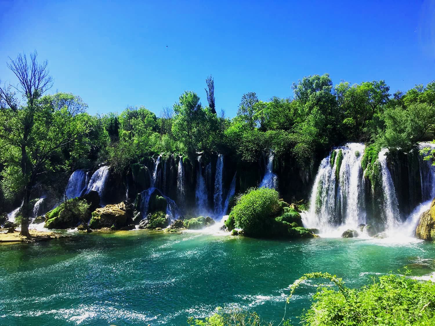 The beautiful Kravice Waterfalls in southern Bosnia and Herzegovina.
