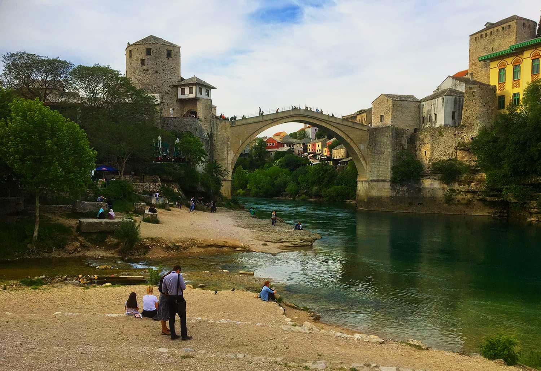 Stari Most bridge in Mostar is a UNESCO World Heritage site.