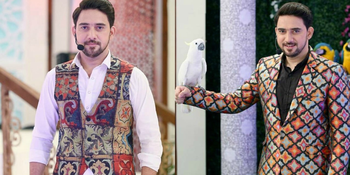Farhan Ali Waris  is possibly the worst dresser that we have seen during Ramazan transmissions.