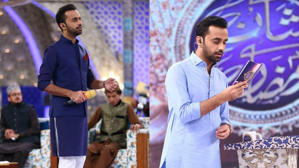 Waseem Badami in single toned kurta pajamas.