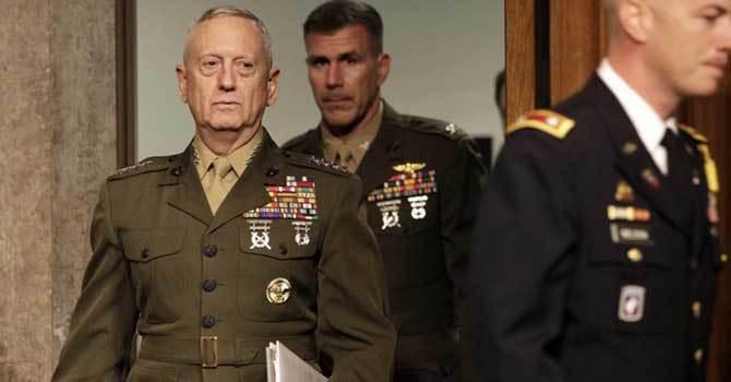 US Defence Secretary James Mattis. — File