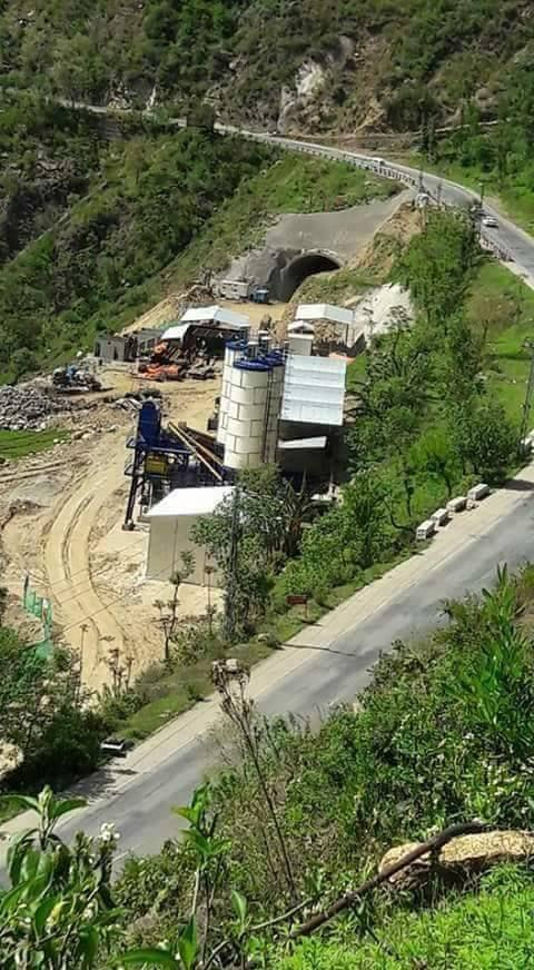 A photograph of the under-construction tunnel falling under the CPEC. ─ Photo by author.