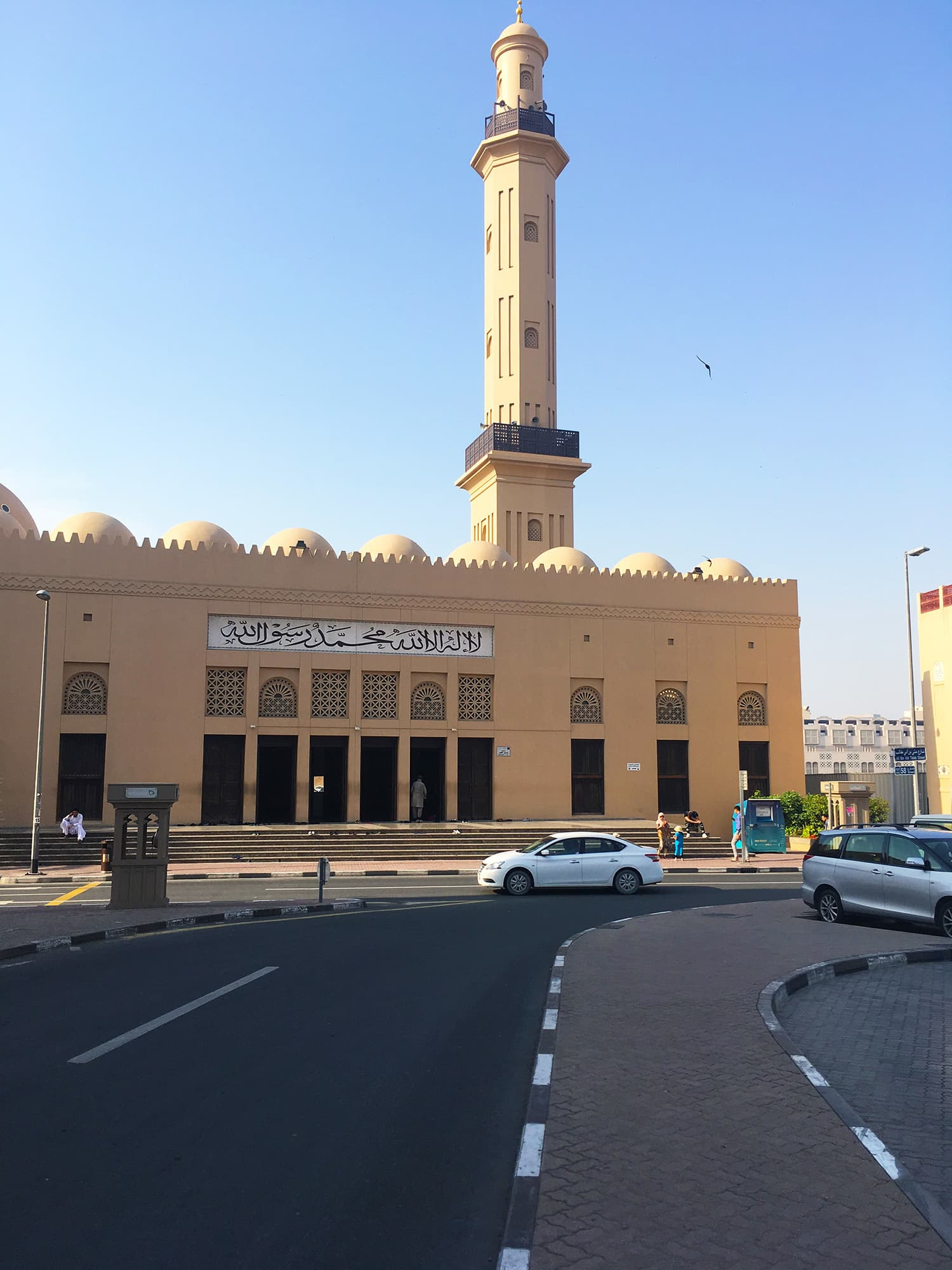 The road leading to the Grand Mosque in Bur Dubai.