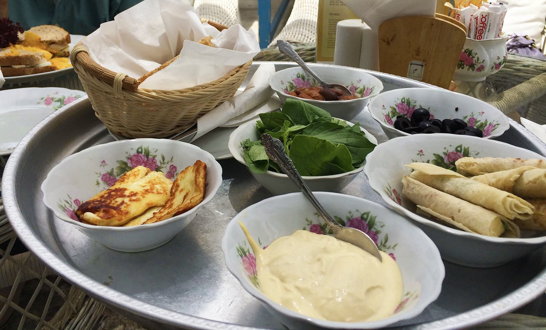 Our delicious Arabic breakfast platter at the Arabian Tea House restaurant.