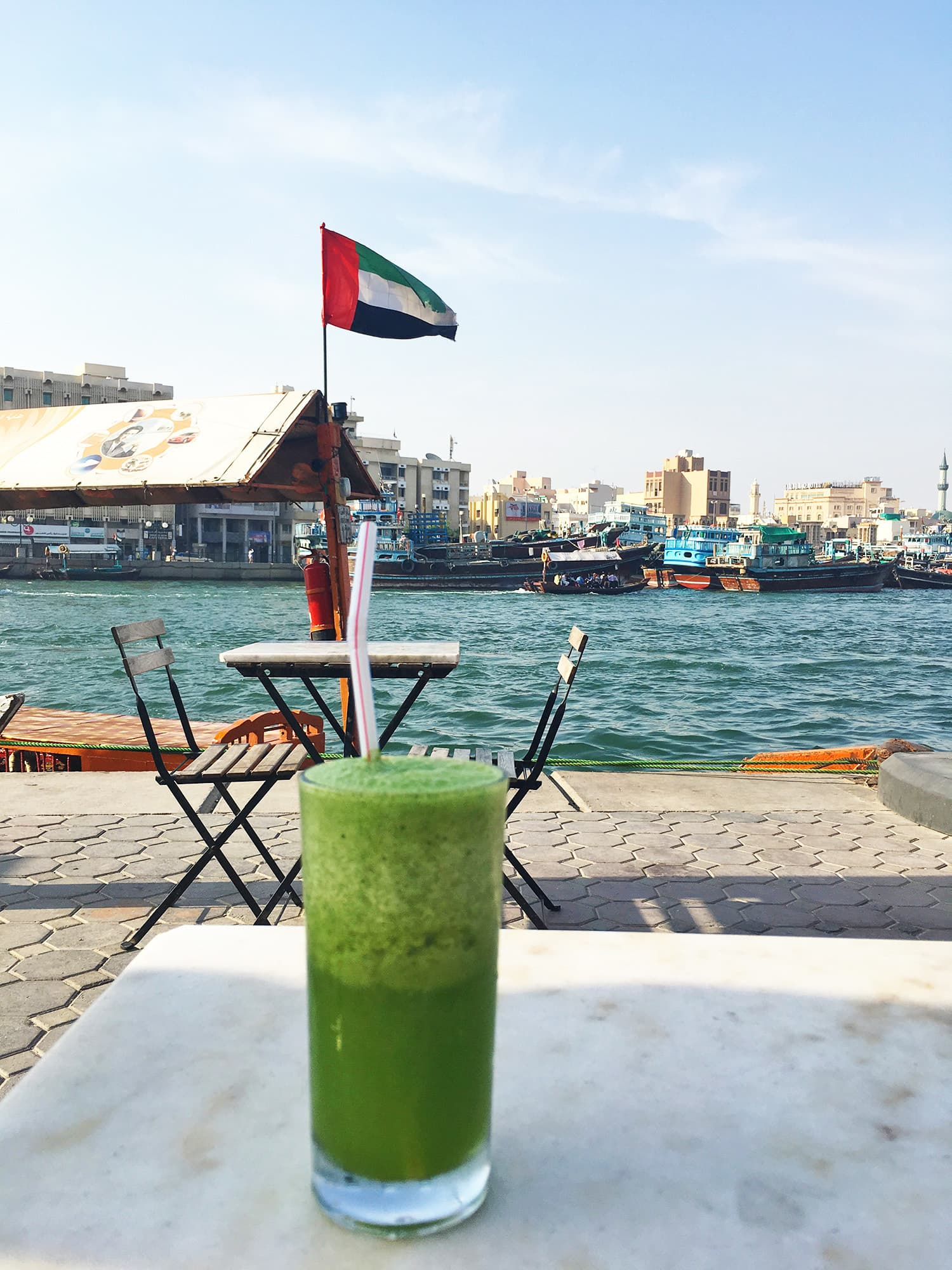 The lemon and mint juice was very refreshing.