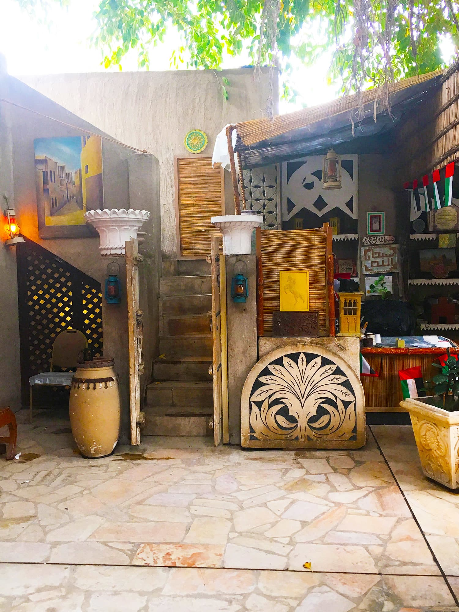 The Restoration House in Al Fahidi showcases historical artefacts.