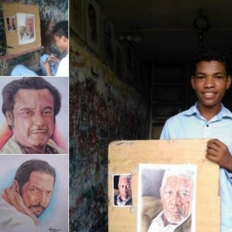A variety of sketches of famous celebrities can be found at Jawad's workshop in Lyari — Photograph  courtesy Art Culture Society/Facebook